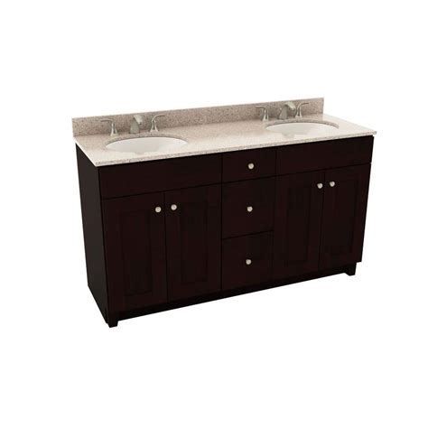 Silestone Bathroom Vanity Tops American Woodmark Reading 61 In Vanity In Espresso With