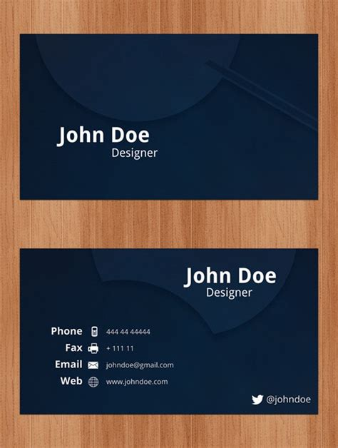 cards photoshop template business cards psd
