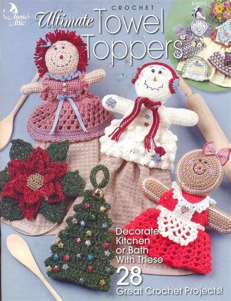 free patterns christmas crafts crocheted pattern topper towel 171 patterns