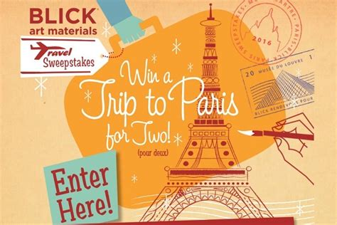 Blick Art Sweepstakes - blick art supplies travel sweepstakes sweepstakesbible