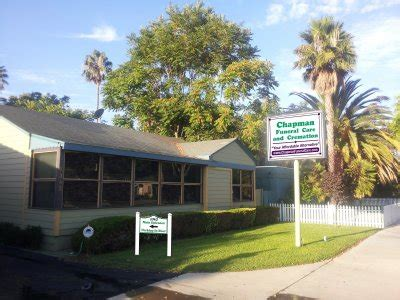 chapman funeral homes our company