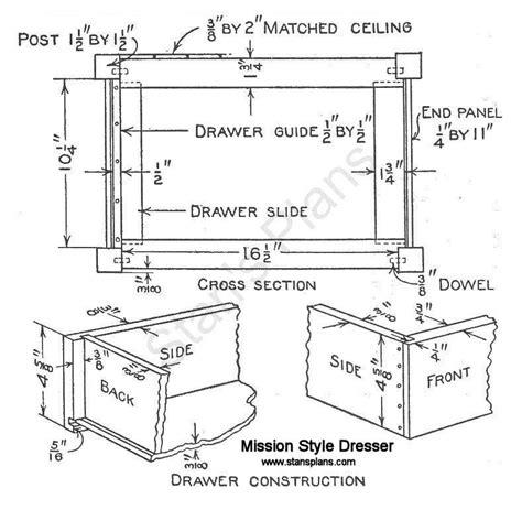 Mission Dresser Plans by Diy Mission Dresser Plans Free Plans Free