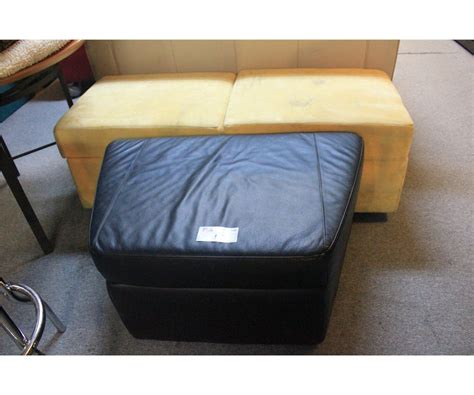 Yellow Leather Storage Ottoman Yellow Microfiber 2 Seat Stool Black Leather Storage Ottoman 2 Tables 2 Large Beds