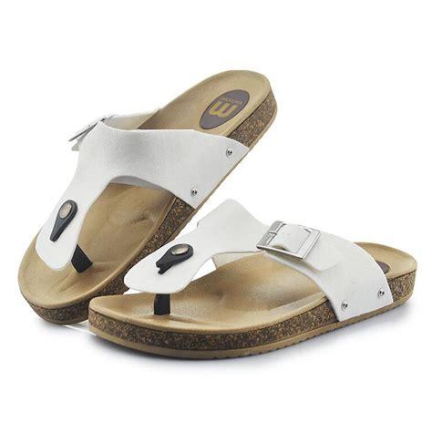 mens summer sandals mens flip flops summer wedge sandals cork slippers