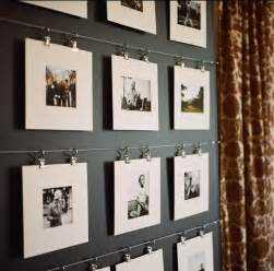 Wall Displays Photo Display Ideas Hanging Photos With Ribbon String