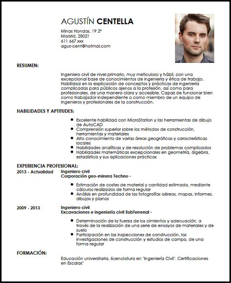 Modelo Curriculum Ingeniero Civil Modelo Cv Ingeniero Civil De Nivel Primario Livecareer