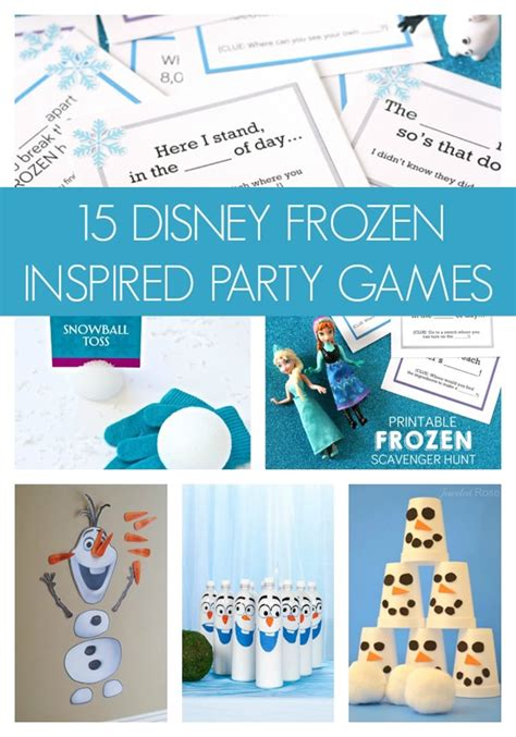 frozen themed birthday games 15 disney frozen inspired party games pretty my party