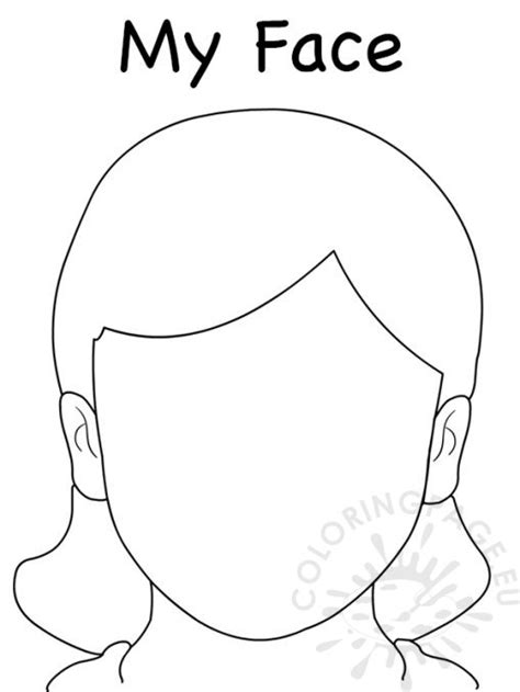 girl face outline clip art people coloring page