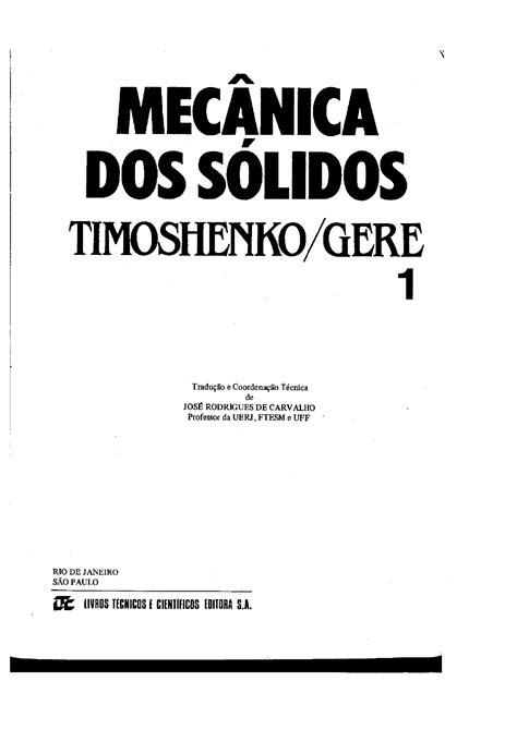 Livro Mecânica dos sólidos Timoshenko Vol 1 - Análise