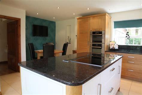 kitchen island with induction hob modern oak kitchens bespoke kitchens