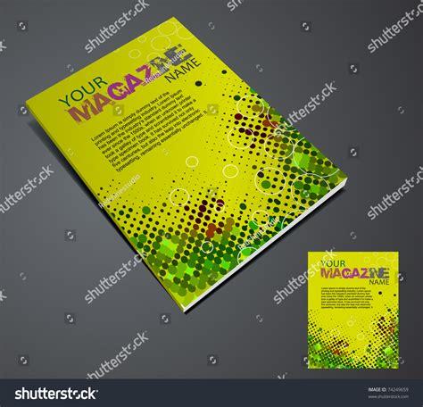 magazine layout design in illustrator magazine layout design template vector illustration