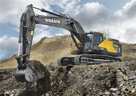 volvo launches ece crawler excavator high power  fuel