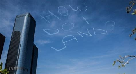 Sky Message Led Writer Creates A Real Image Floating In Mid Air by Comedian Writes Scary Message In The Skies Gets