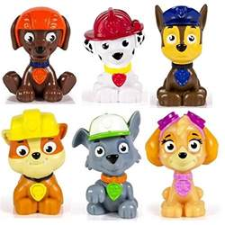 kids paw patrol mini figures 6 rocky zuma skye rubble marshall amp chase parental guide