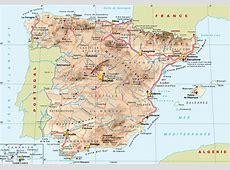 Carte Espagne | Carte du monde L Estartit Costa Brava