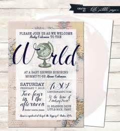 welcome to the world baby shower printable baby shower gender neutral travel theme