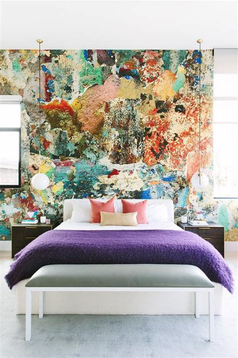 splatter paint bedroom paint splatter accent wall contemporary bedroom