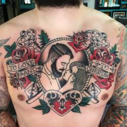 Traditional Traditional Chest Tattoo By Rob Hamilton