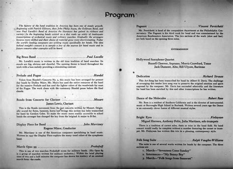 concert program templates recital program template images