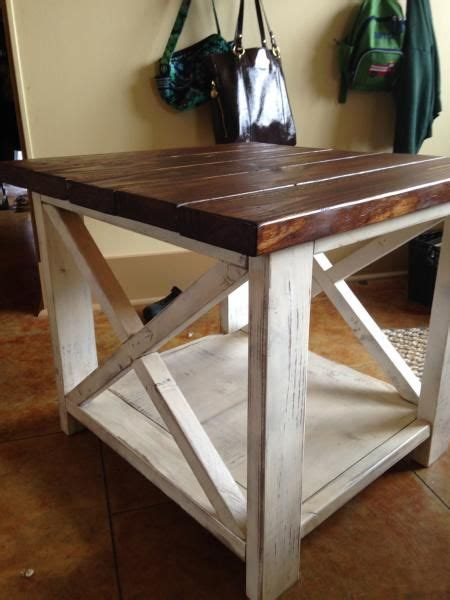 project  rustic  side table rustic side