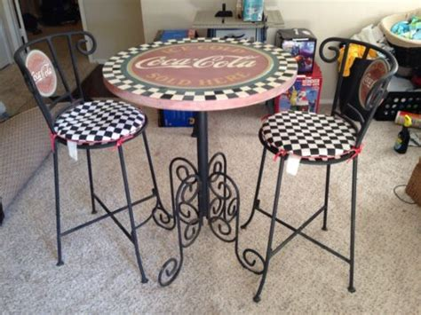 weathered vintage coca cola bistro chairs highly