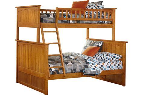 twin full bed nantucket twin full bunk bed caramel latte ab59207