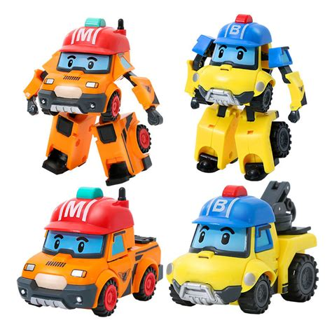 Recommend Setelan Anak Size 1 6 Poli Robocar Merah Baju Anak Karakter robocar poli transformation robot car toys south korea gift new ebay