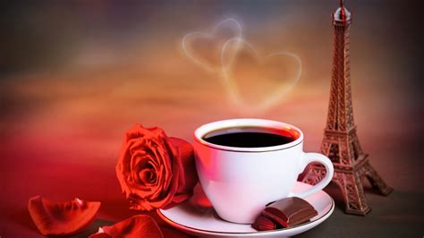 wallpaper coffee cup love wallpaper red rose cup of coffee love hearts warm style