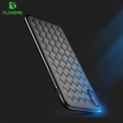 Softcase For Iphone 55s floveme soft phone for iphone 8 luxury grid weaving cases for iphone 6 6s 7 8 plus x