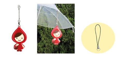 this extremely cute little red riding hood umbrella mug reflective little red riding hood umbrella charm