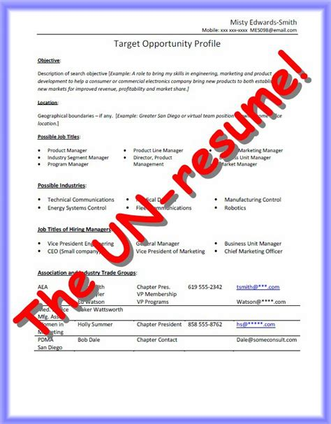 Resume For Un cv sle united nations