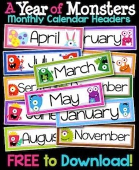 Classroom Calendar Feature Best 25 Month Labels Ideas On
