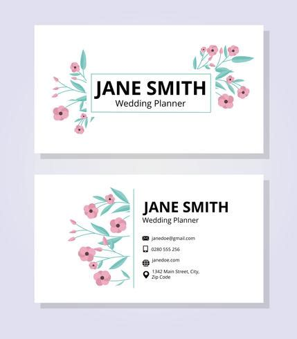 Feminine Business Card Template by Feminine Business Card Template Free Vector