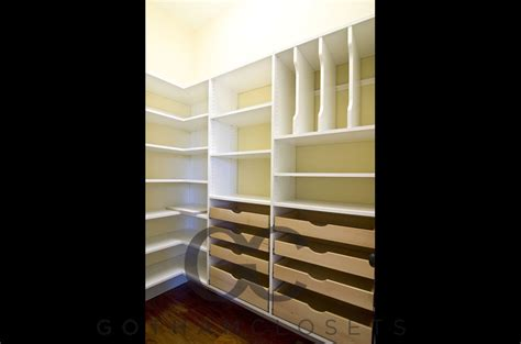 Shelving For Pantry Closet by Pantry Closet Shelves Gotham Closets