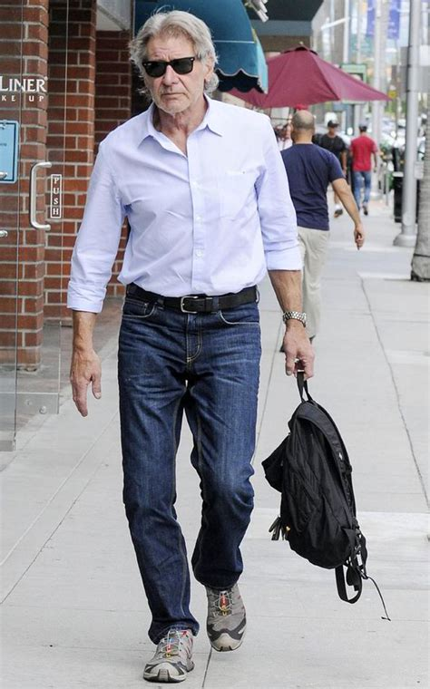 clothing for men over 50 no injuries here harrison ford walks unaided ahead of