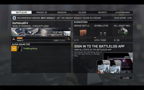 better battlelog battlefield 4 will deliver better battlelog integration