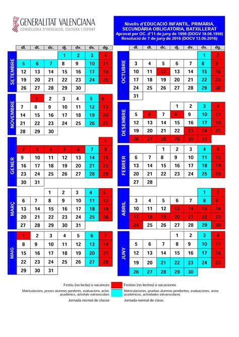 convocatorias comunidad valenciana 2016 i 2017 calendario escolar comunidad valenciana