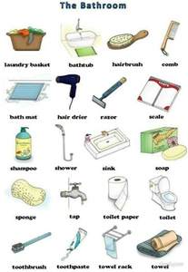 the bathroom vocabulary learning