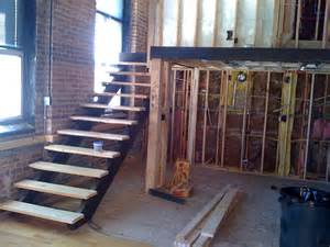 Steel Stairs With Wood Treads by Pink Fog Studio Stairs Open Riser Steel Stair With Oak