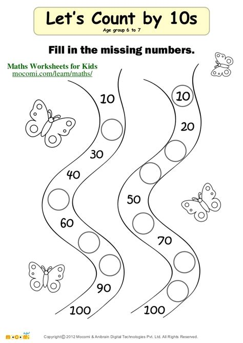 Counting By 10 S Worksheets by Year 1 Maths Challenge Broad Heath Primary School