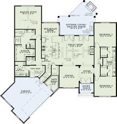 new house plan 86154 total living area 2673 sq ft 5 2500 sq ft one level 4 bedroom house plans first floor