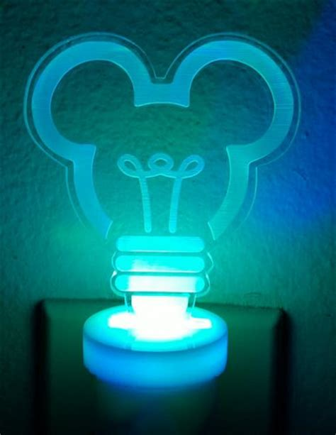 mickey mouse color changing led light
