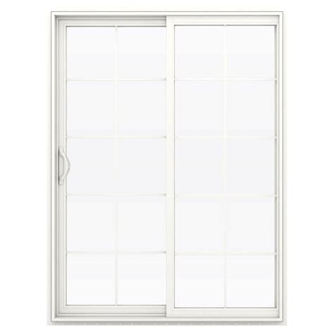 60 Sliding Patio Door by Jeld Wen 60 In X 80 In V 2500 Series Vinyl Sliding Patio