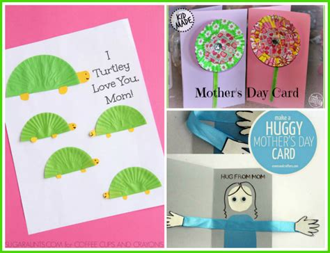 mothers day cards toddlers can make 10 kid crafted s day cards s happy hive