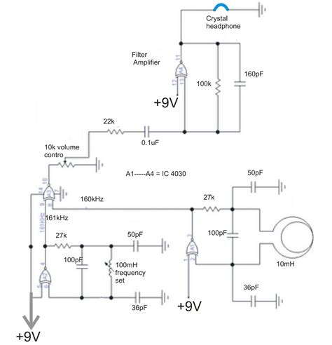 metal detector circuit diagram simple metal detector circuit