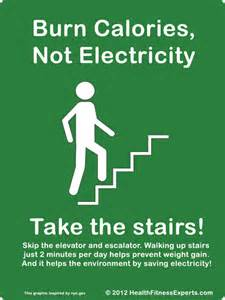 How Many Calories Climbing Stairs by 20 Ways To Go Green This Earth Day General News News