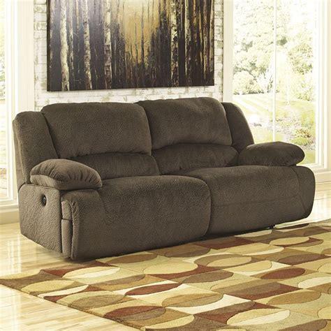 toletta chocolate reclining power sofa signature design  ashley furniture furniturepick