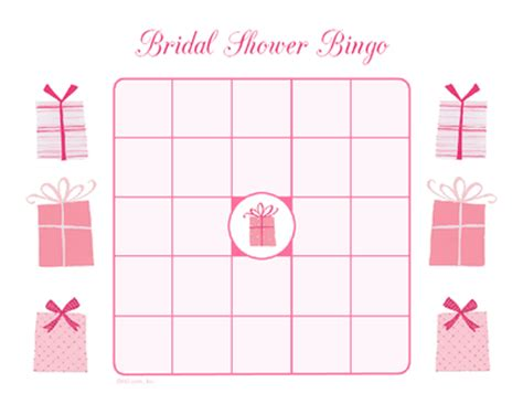 Blank Bingo Card Template For Bridal Shower by Bridal Shower Bingo Wedding Bingo