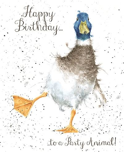 birthday card template duck see the new adorable animal greetings cards from wrendale