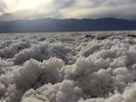 Badwater Basin, Inyo County, California   Salt crust covering the